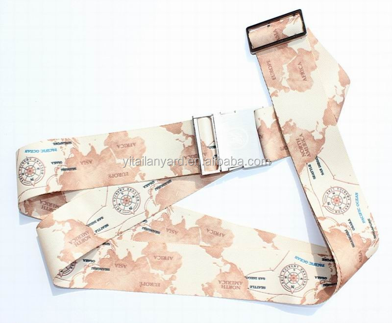 2019  new design Heavy duty adjustable travel baggage belt/custom made luggage straps /suitcase belts