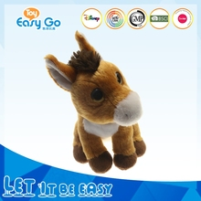 promotional custom stuffed plush horse shape animal toys