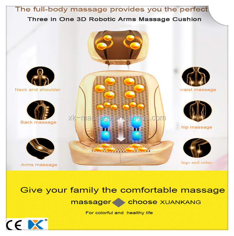 Top Selling 3D Infrared Heating Shiatsu Vending Machine Massage Cushion with Robotic Arms
