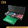 500pcs 14g 4 color clay casino Style luxury Poker Chip Set in leather case