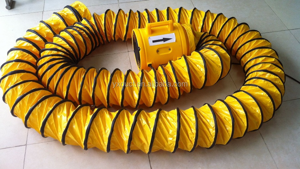 8 inch Fire-resistant flexible PVC duct,mining ventilation duct, fabric air duct