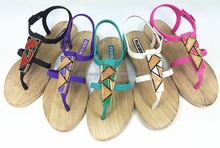 China jelly shoes rome sandals ladies PCU shoes