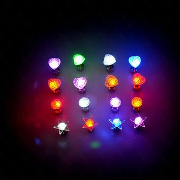 led light earrings Glow Earrings LED bulb light up rave great w/ diffraction glasses gloves lasers