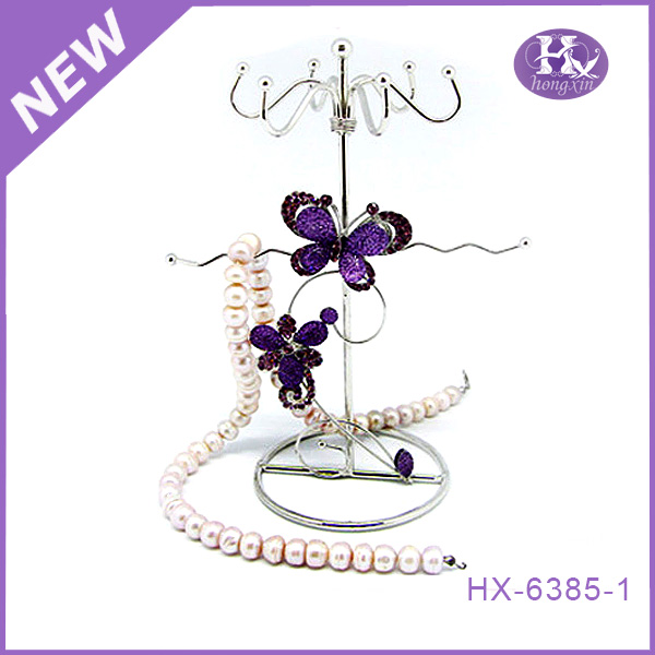 HX-6385 Home decorative metal butterfly wall mount hanging jewelry holder