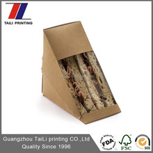 Food Grade Pe Coated Triangle Sandwich Box For Lunch