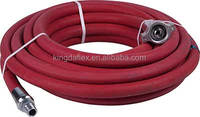 High Temperature Red Cover Saturated Steam Hose 17 bar (250 psi) Steel Reinforced