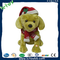 plush dog toys with Christmas costume