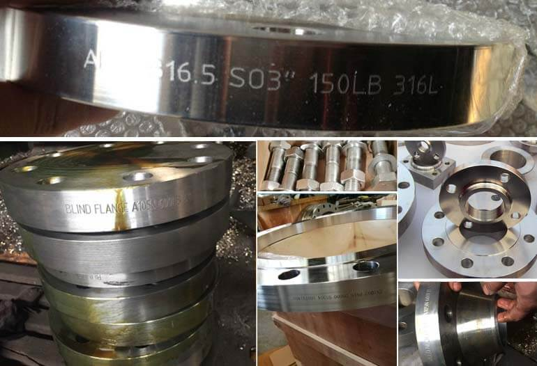 DIN raised face stainless steel 316L plain flange pn16 with bolts nut and washer