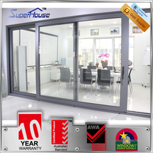 High air tightness AS2047 standard large sliding glass doors double glazing and modern style