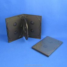 Raw material with tray 14mm 6 discs dvd case black color