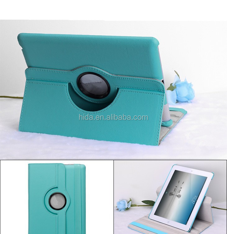 leather case for ipad air 360 degree rotating design with 11 colors