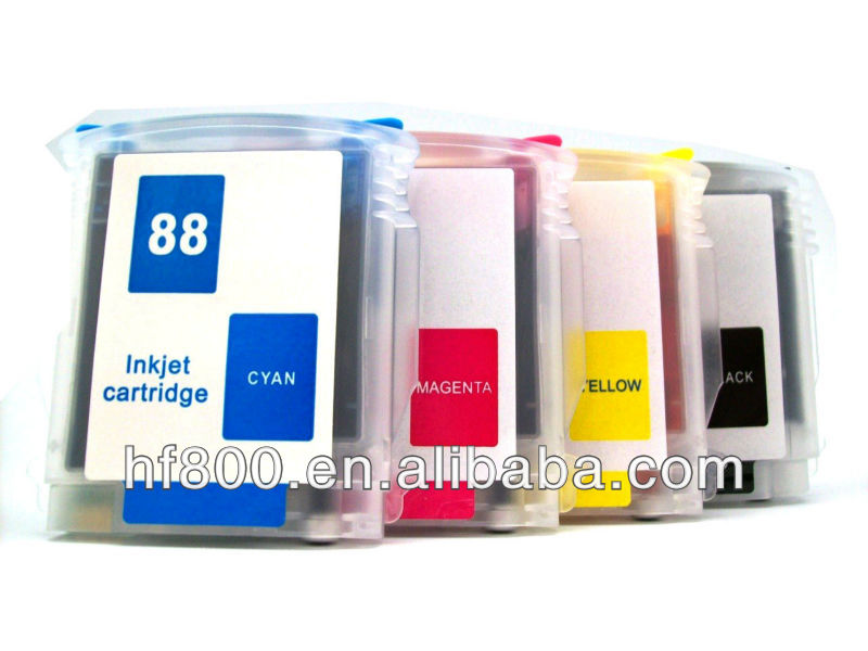 hp88 refillable ink cartridge for hp k550 k8600