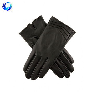 2018 Fashion Women's Hairsheep sheepskin Leather Gloves with Folded Cuff Detail