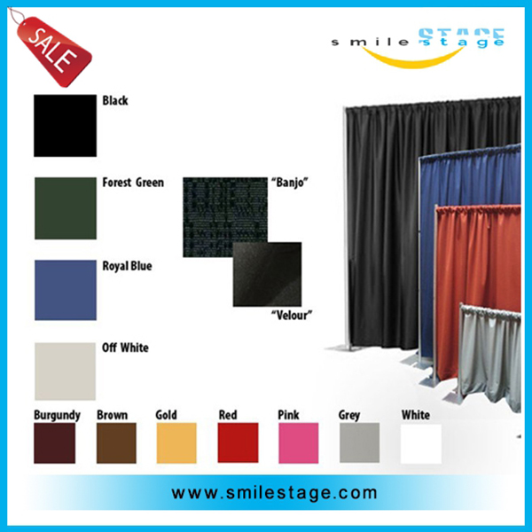 RP Portable Decoration Aluminum Pipe And Drape With Backdrops