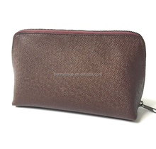 Small leather makup case oem pu leather cosmetic bag