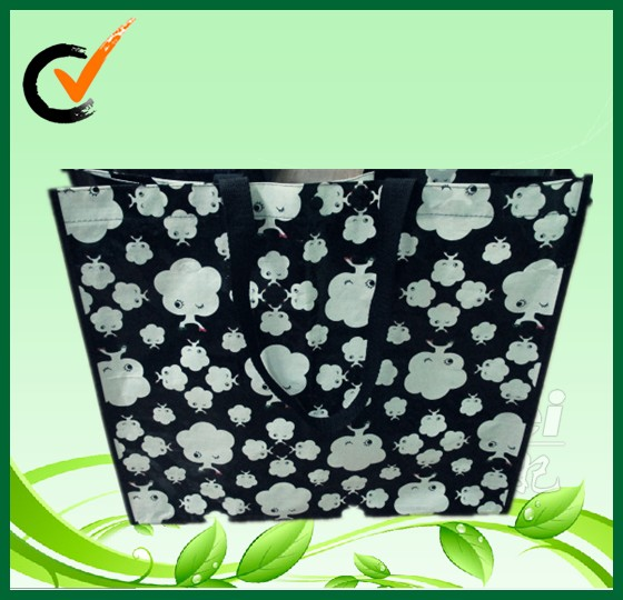 Glossy pp laminated shopping tote BAG wholesale