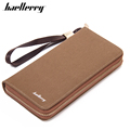 2016 Retro style zip Men Wallets , canvas rectangle Wallet for man ,Photo Credit Card Holders Purse Wallets
