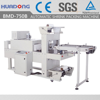 semi automatic thermo film shrink wrapping machine for cardboard boxes