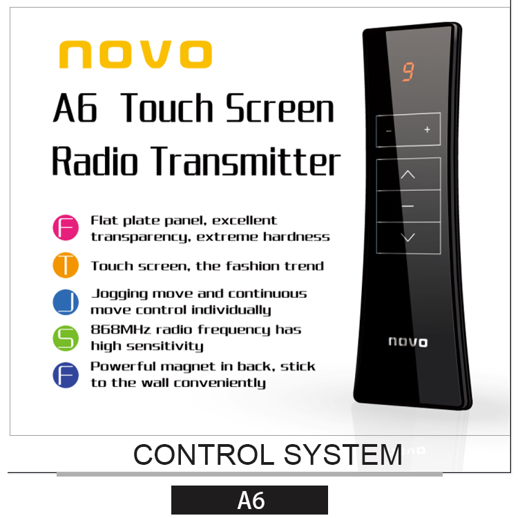 NOVO Smart Home Automation Curtain Motor Rremote Control & Electric Curtain Track Motor System Wireless RF Remote Controller