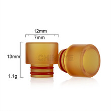 Gold PEI Drip tips 510 for SMOKing Atomizer heat-resistant mouthpiece wholesale uk
