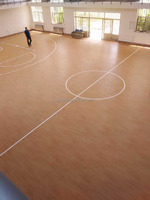 pvc wood look floor for basketball court used