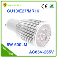 Hot sale product 85-265VAC 8w led spotlight gu10 led with 3 year warranty most powerful led cob spotlight mr16