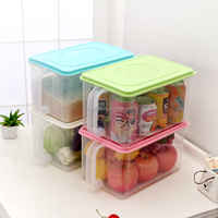 Kitchen Use Food Rice Storage Containers Clear Plastic Folding Box
