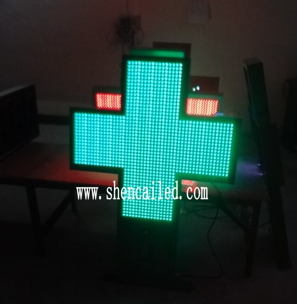 guangzhou double color led pharmacy cross /led flash cross/led cross light