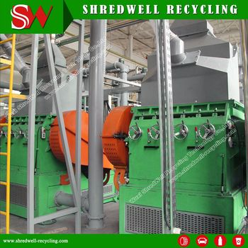Hot Sale Used Tyre Recycling Machine for Rubber Crumb