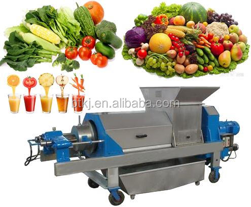 Double Screw Commercial Orange Juicer Extractor Industrial Squeezer Machine