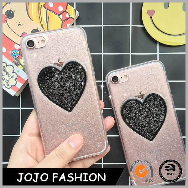 Promotional heart shape shinny phone case mobile phone shell phone case