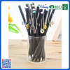 2016 Wholesale customized slap-up school black wood HB pencil with lovely pendant