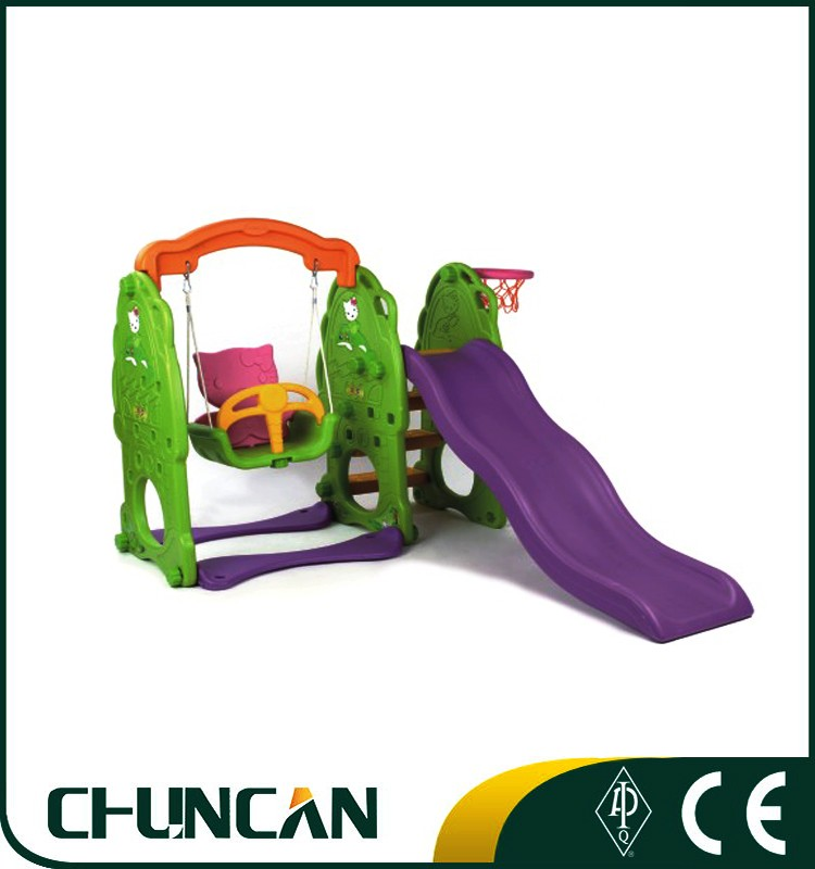 CC-4204 Hot Sale children slide toy slide with swing