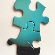Greyboard back with die cut colorful printing jigsaw puzzle