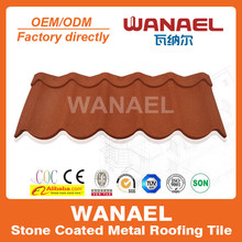 Wanael Modern 1260x470mm anti-uv sands coated galvalume Roofing Color Roof Rib Type