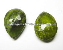 Natural 22x15mm Grossular Garnet Pear Briolettes Loose Stone