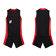 Wholesale custom 2019 latest black and red basketball jersey uniform design