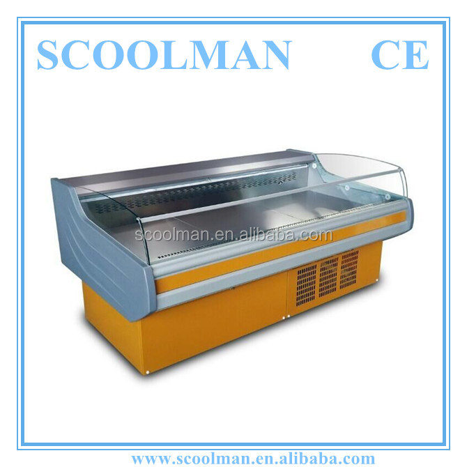 Refrigerated Open Self Serve Meat Display Counter