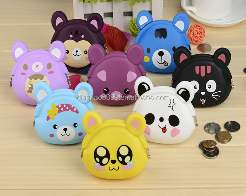 Halloween Best Gift new coin purses wallet ladies printing cats dogs animal big face change fashion cute small coin purse