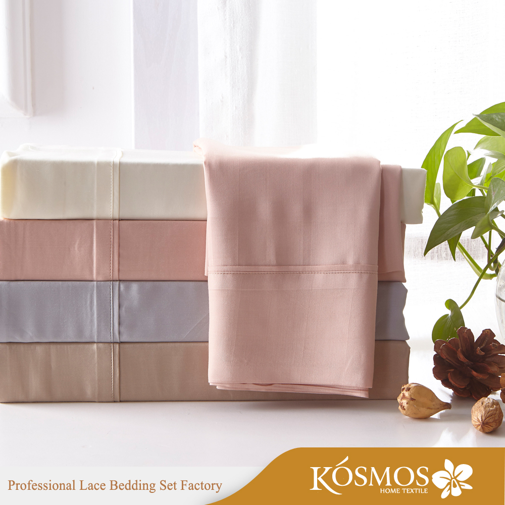 KOSMOS Wholesale Bedding Set 100% Bamboo Fiber Flat Sheet Bed Sheets