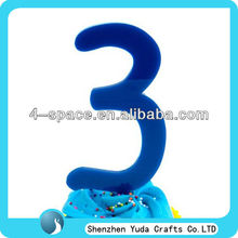 Blue acrylic table toppers wedding for cake decoration