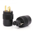 One Pair Hi-end Audio Grade Gold Plated US Power Socket Plug HiFi AC American Connectors For DIY Cable