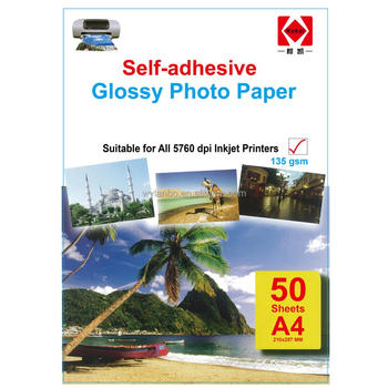 135g Self-adhesive glossy photo paper A4 * 20 sheets/50 sheets