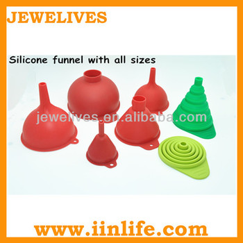 OEM factory silicone oil funnel,tin funnels wholesale