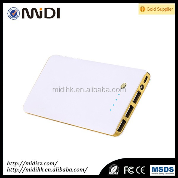 2017 MD-Q802 3 USB Port power bank Logo Print Good shape Mobile Power