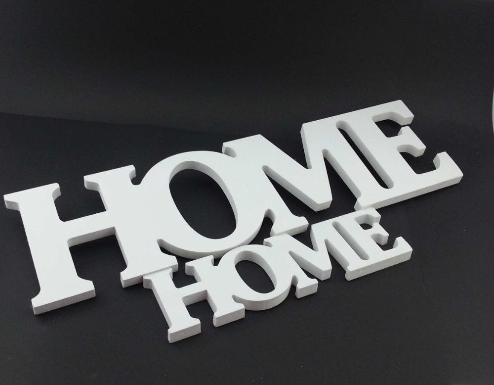 "Letters ""Home"" Made of PVC Decor"