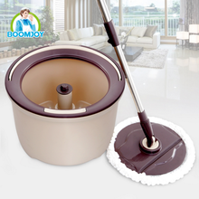 Boomjoy Factory Price Household Cleaning Spin Mop Bucket and Go Pro Magic Mop