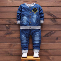 Baby Boys Denim Jacket+Jeans Pants traditional baby boy clothing sets
