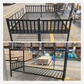 School Furniture K/D Metal Dormitory Bunk Bed To Single Bed
