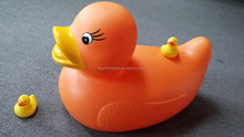 large yellow duck dog toy